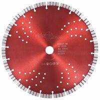 vidaXL Disque de coupe diamanté avec turbo et trous Acier 300 mm