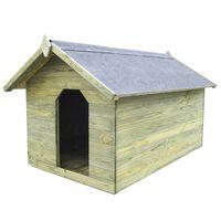 vidaXL Niche de jardin avec toit ouvrant en bois de pin imprégné
