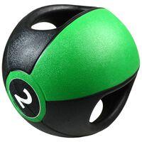 Pure2Improve Ballon médicinal avec poignées 2 kg Vert