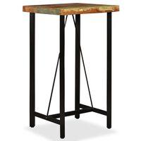vidaXL Table de bar Bois de récupération massif 60 x 60 x 107 cm