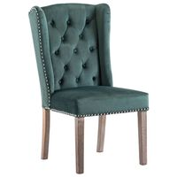 vidaXL Chaise de salle à manger Vert foncé Velours