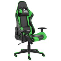 vidaXL Chaise de jeu pivotante Vert PVC