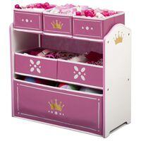 Delta Children Organisateur de jouets Multi-boîtes couronne princesse