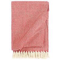 vidaXL Couverture en coton 220 x 250 cm Rouge
