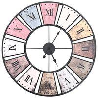 vidaXL Horloge murale vintage avec mouvement à quartz 60 cm XXL