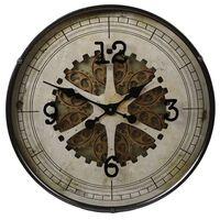Gifts Amsterdam Horloge murale Radar Rond Gris antique 60 cm