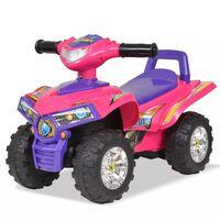vidaXL VTT pour enfants avec son et lumière Rose et violet