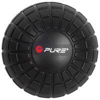 Pure2Improve Balle de massage 12,8 cm Noir