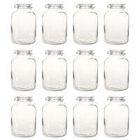 vidaXL Pots à confiture en verre avec serrure 12 pcs 5 L