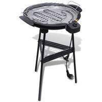 vidaXL Barbecue rond électrique de jardin