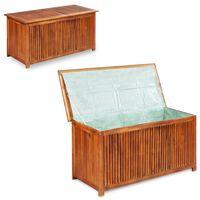 vidaXL Boîte de rangement de jardin 117x50x58 cm Bois d'acacia solide