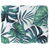 vidaXL Coussin de canapé palette Motif à feuilles 50x40x12 cm