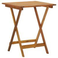 vidaXL Table pliable de jardin 60x60x75 cm Bois d'acacia solide