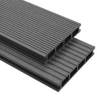 vidaXL Panneaux de terrasse WPC avec accessoires 30 m² 4 m Gris