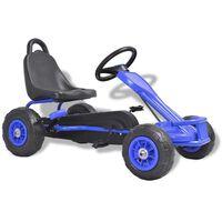 vidaXL Kart à pédales avec pneus Bleu