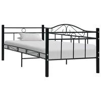 vidaXL Cadre de lit de repos Noir Métal 90 x 200 cm