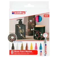 edding Marqueurs à peinture brillante 8 pcs Multicolore 750