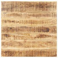 vidaXL Dessus de table Bois de manguier solide 25-27 mm 80x80 cm