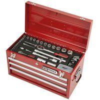 """KS Tools 100 pièces Coffre à outils 1/4"""" 1/2"""""""