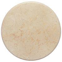 vidaXL Dessus de table Crème Ø50x2,5 cm Marbre