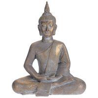 ProGarden Statue Bouddha assis 50x28x62,4 cm Gris doré