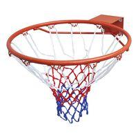 vidaXL Ensemble de panier de basket-ball avec filet Orange 45 cm