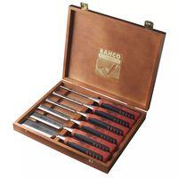 BAHCO Jeu de burins en boîte en bois 6 pcs 424P-S6-EUR