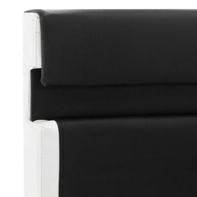 vidaXL Cadre de lit avec LED Noir Similicuir 160 x 200 cm