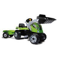 Smoby Tracteur et remorque pour enfants Farmer Max Vert et noir