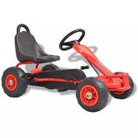 vidaXL Kart à pédales avec pneus Rouge