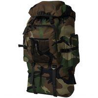 vidaXL Sac à dos en style d'armée XXL 100 L Camouflage