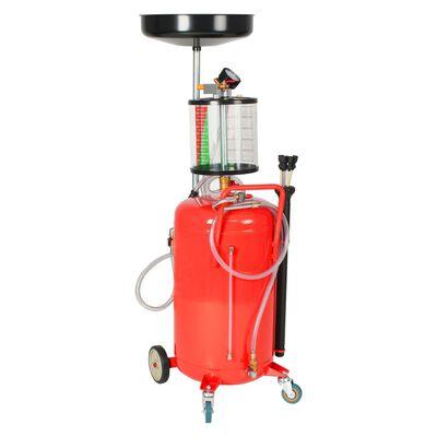 vidaXL Pompe à vidange d'huile usagée 70 L Acier Rouge,