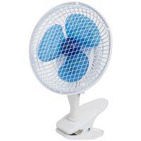 Bestron Ventilateur de bureau à pince 19 cm 15 W Blanc ACF15