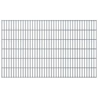 vidaXL Panneaux de clôture de jardin 2D 2,008x1,23 m 16 m total Gris