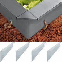 vidaXL Plaques de clôture à escargots 4 pcs Acier 150x7x25 cm 0,7 mm