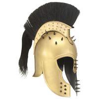 vidaXL Casque de guerrier grec antique pour GN Laiton Acier