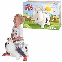 Mon Skippy Buddy Animal bondissant Skippy Cow Blanc KH1-23