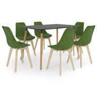vidaXL Ensemble de salle à manger 7 pcs Vert clair