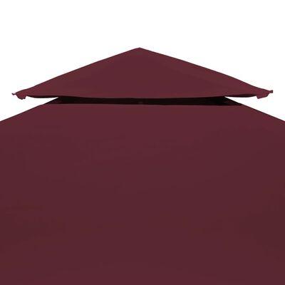 vidaXL Toile supérieure double de belvédère 310 g/m² 3x3 m Bordeaux