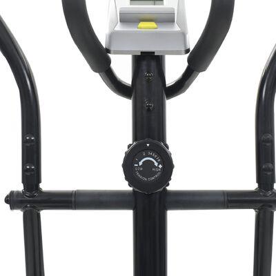 vidaXL Vélo elliptique magnétique avec mesure du pouls