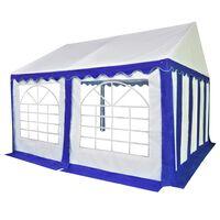 vidaXL Chapiteau de jardin PVC 3x4 m Bleu et blanc