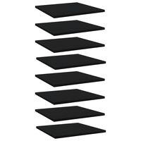vidaXL Panneaux de bibliothèque 8 pcs Noir 40x40x1,5 cm Aggloméré