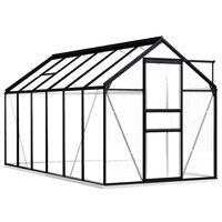 vidaXL Serre avec cadre de base Anthracite Aluminium 7,03 m²