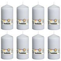 Bolsius Bougies pilier 8 pcs 150x78 mm Blanc