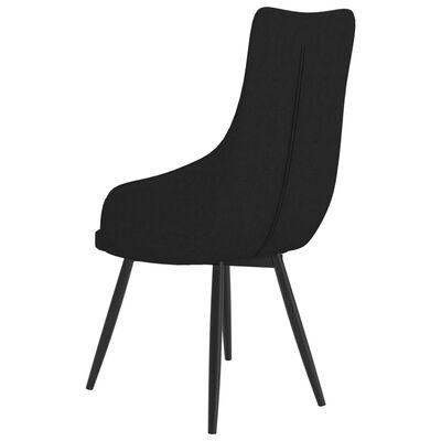 vidaXL Chaise de canapé Noir Tissu