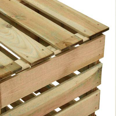 vidaXL Composteur de jardin à lattes 80x50x100 cm Bois de pin imprégné
