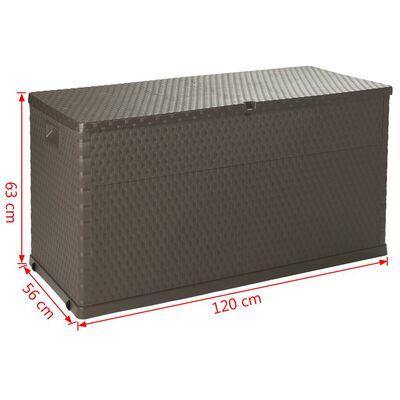 vidaXL Boîte de rangement de jardin Marron 120x56x63 cm