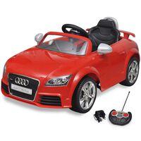 vidaXL Voiture avec télécommande pour enfants Audi TT RS Rouge