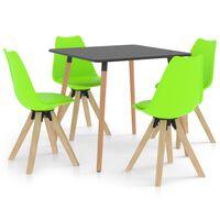 vidaXL Ensemble de salle à manger 5 pcs Vert