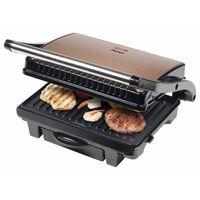 Bestron Gril à panini ASW113CO 1000 W Noir et cuivre